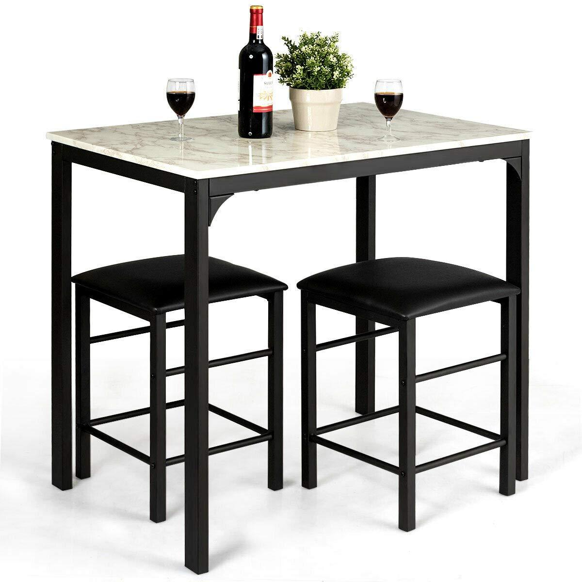 Miraculous Amazon Com N Bright Shop Faux Marble Table Top 3 Piece Machost Co Dining Chair Design Ideas Machostcouk