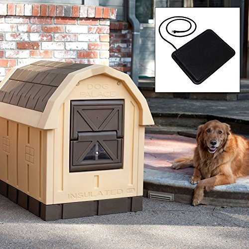 Dog Palace Dog House with Floor Heater (Dog Heaters For Dog House)