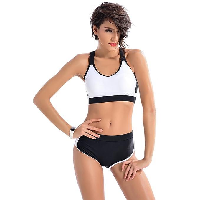 Bikini Bañador Deportivo Natacion Traje Cintura Alta de Baño ...