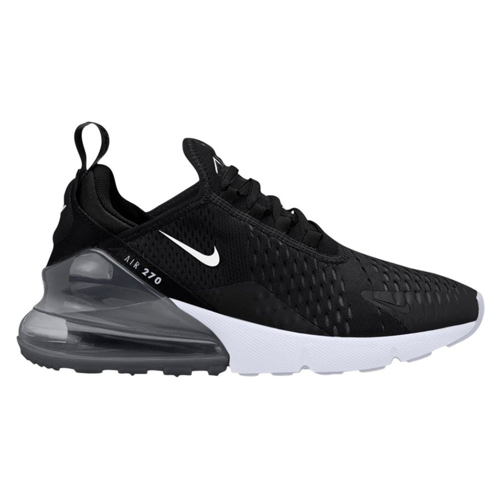 Nike Kids' Grade School Air Max 270 Shoes (3.5, Black/White/Anthracite)