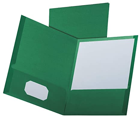 Letter Size 25 per Box Assorted Colors 57513 Oxford Two-Pocket Folders