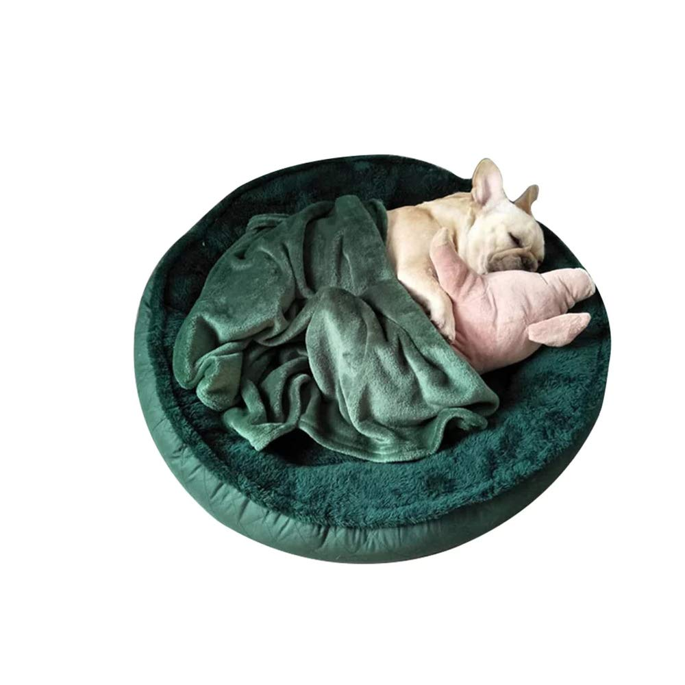 Green 65cm Green 65cm Kennel Removable And Washable Small Medium And Large Dogs Indoor Pet Mat Winter Warm Thick Bite Resistant Bite (color   Green, Size   65cm)
