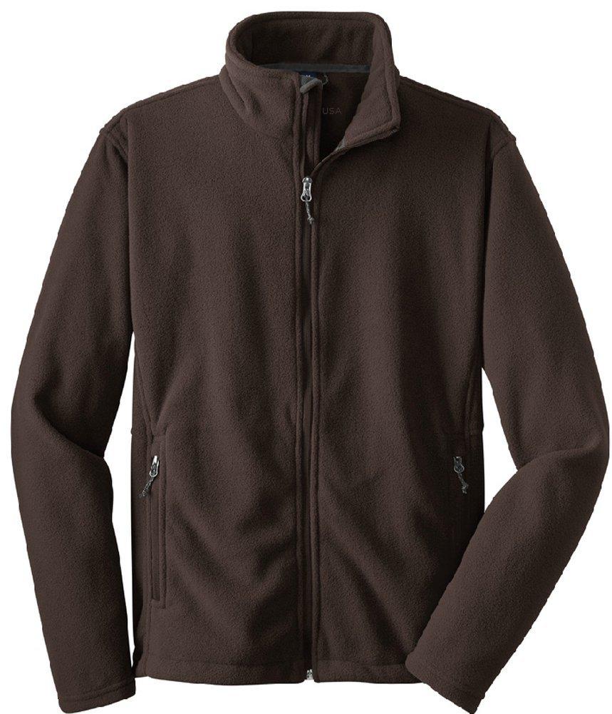 Joe's USA tm - Mens Soft Midweight Fleece Jacket, 2XL Chocolate