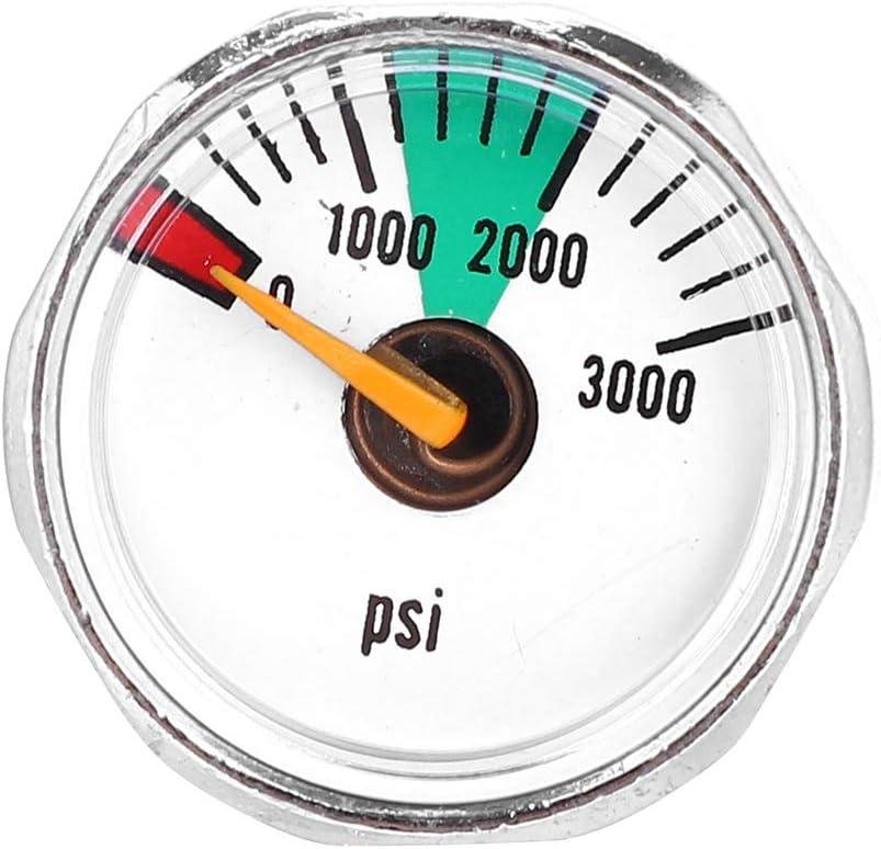 Nikou Manometer 3000psi 1//8NPT 3000 psi und 5000 psi 1//8NPT Micro Mini Gauge Manometer
