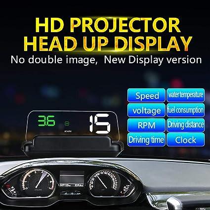 Everpert C500 HUD OBD2 - Sistema de Alerta de Velocidad para Coche (velocímetro): Amazon.es: Coche y moto