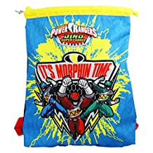 Power Rangers Dino Super Charges Drawstring Kid Backpack Daypack