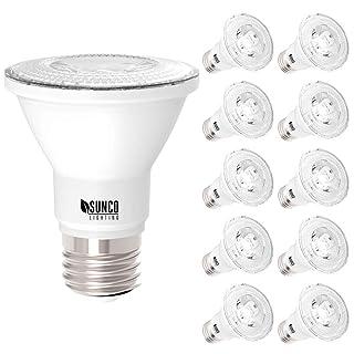 Sunco Lighting 10 Pack PAR20 LED Bulb, 7W=50W, Dimmable, 2700K Soft White, E26 base, Indoor/Outdoor Spotlight, Waterproof - UL & Energy Star