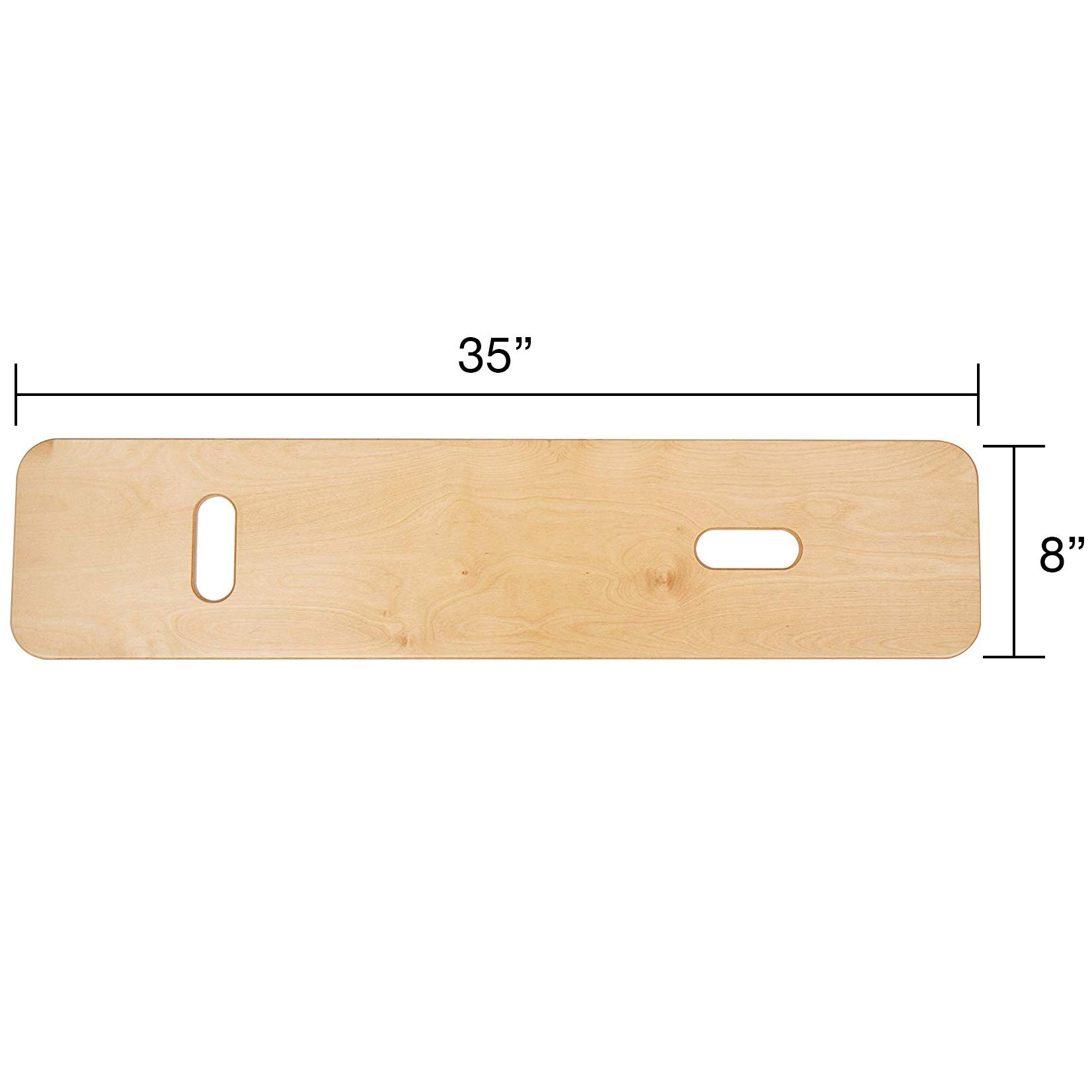 Sammons Preston Bariatric Transfer Board for Wheelchair Users, Wooden Slide Board with Handles, 35'' Long & Strong Wood Slider Board with 600 lbs. Capacity by Sammons Preston (Image #3)