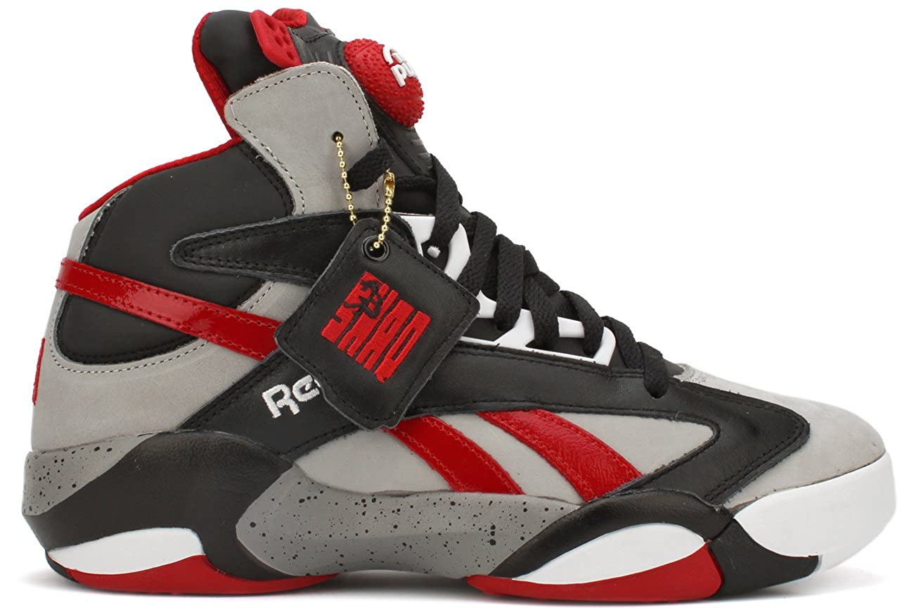 88032f47868 Reebok Shaq Attaq Brick City Mens Basketball Shoe 13 Grey-Black-Red  Buy  Online at Low Prices in India - Amazon.in