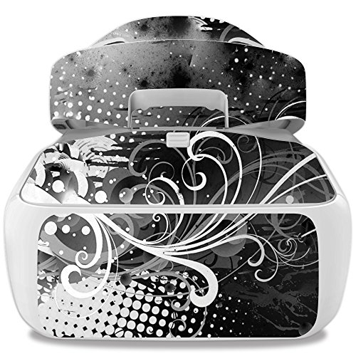 Skin For DJI Goggles – Black Flourish | MightySkins Protective, Durable, and Unique Vinyl Decal wrap cover | Easy To Apply, Remove, and Change Styles | Made in the USA (Flourish Vinyl Skin)