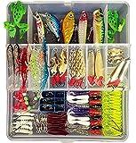 Cheap 172pcs Set Fishing Lures Bass Crankbait Spoon Minnow Popper Crank Bait Soft Bat Jig Hooks for All Water Layer