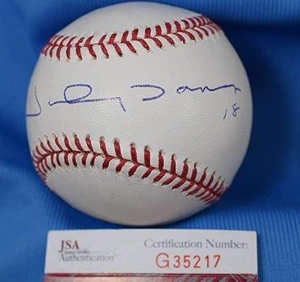 ea0476d6deb Autographed Johnny Damon Ball - Coa Major League OML Authentic - JSA  Certified - Autographed Baseballs