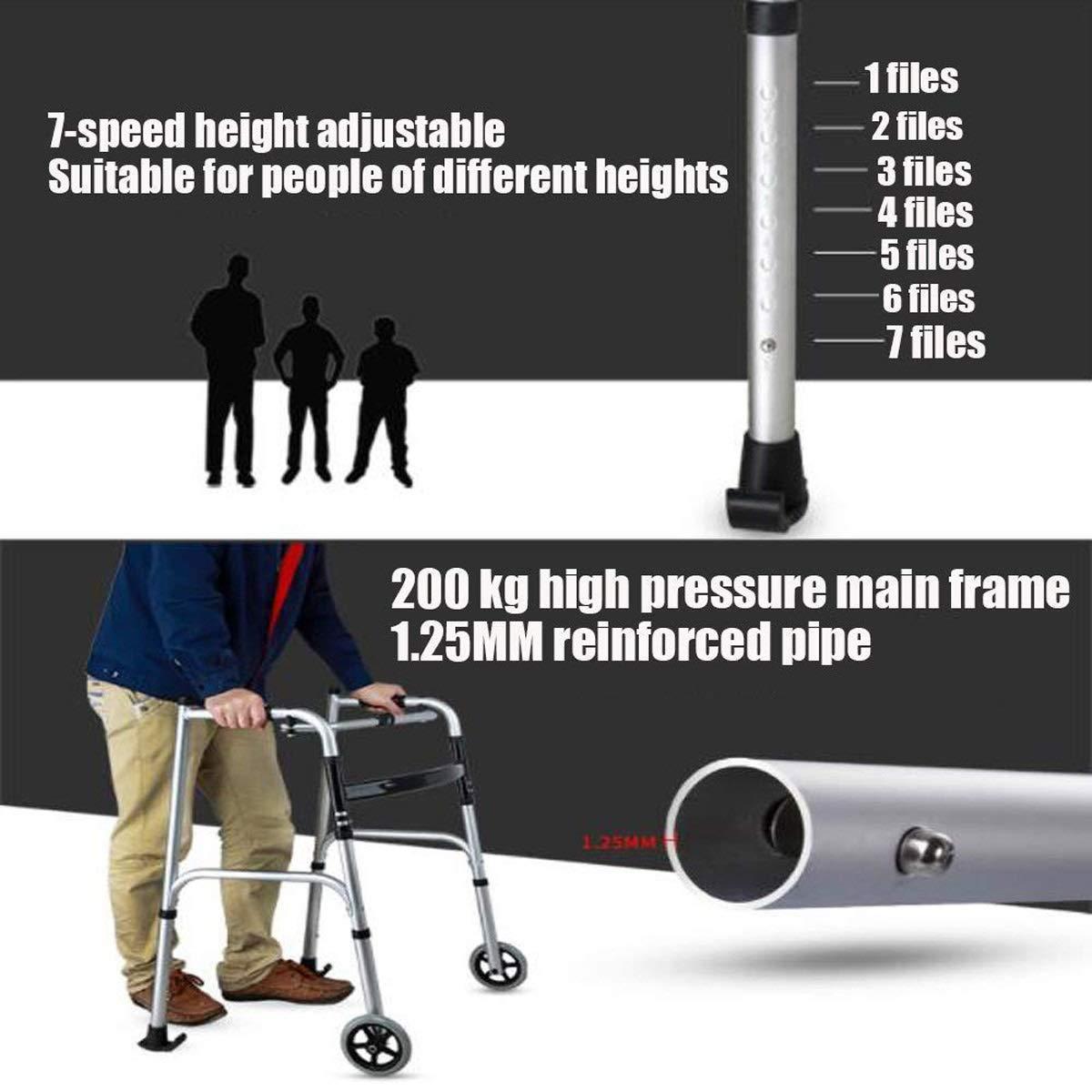 Amazon.com: PMent Standard Walkers - Andador plegable para ...