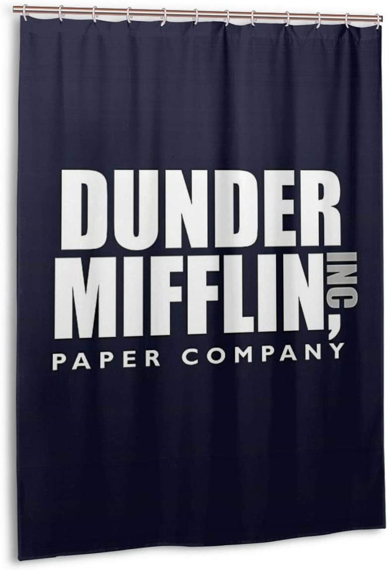 Noick The Dunder Office Mifflin Inc. Design Jersey Poster Boutique Shower Curtain Hooks Polyester Home Decor 54x78inch