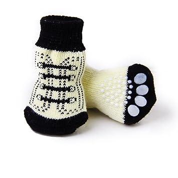 Yililay Muy pequeña Pequeña Calcetines del Perro de Perrito del Gato Antideslizante con Las Impresiones Lindas