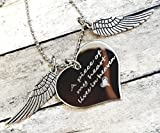A Piece Of My Heart Lives In Heaven Heart Necklace Memorial Gift Loss of Loved One, Wings with Heart offers