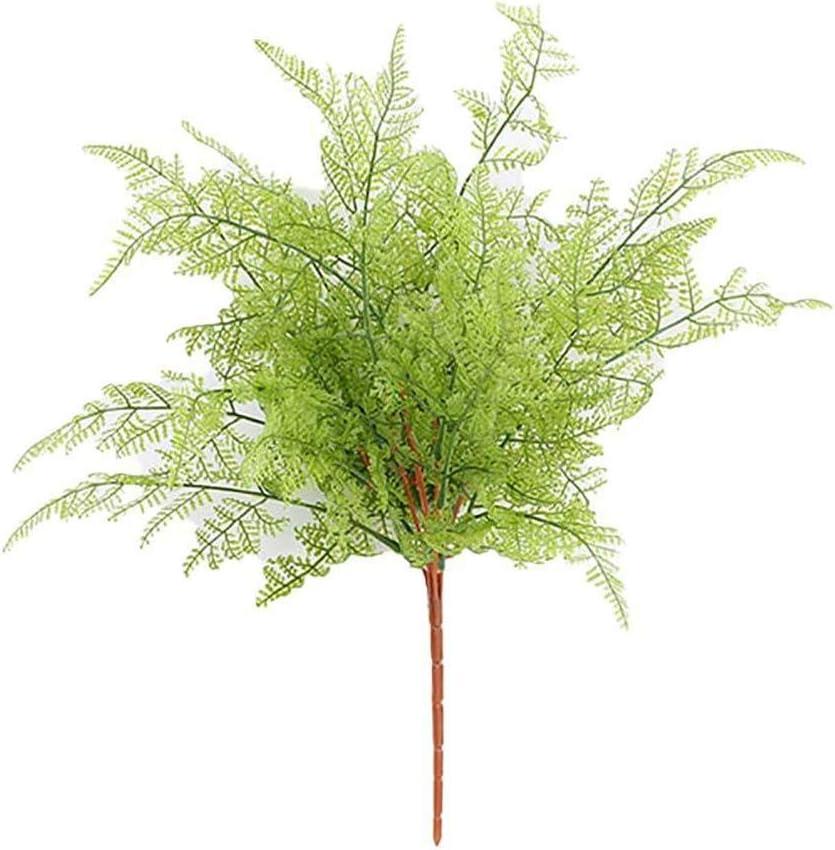 Artily Plantes artificielles artistiques en Plastique Feuilles Vertes D/écoration ext/érieure et int/érieure pour la Maison et Le Jardin