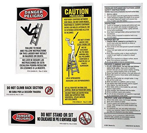 Al Stepladder Safety and Instr. Labels