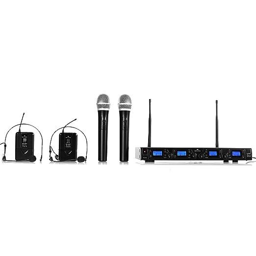 6 opinioni per Malone UHF-550 Quartett microfoni senza fili (2 microfoni ad archetto, 2