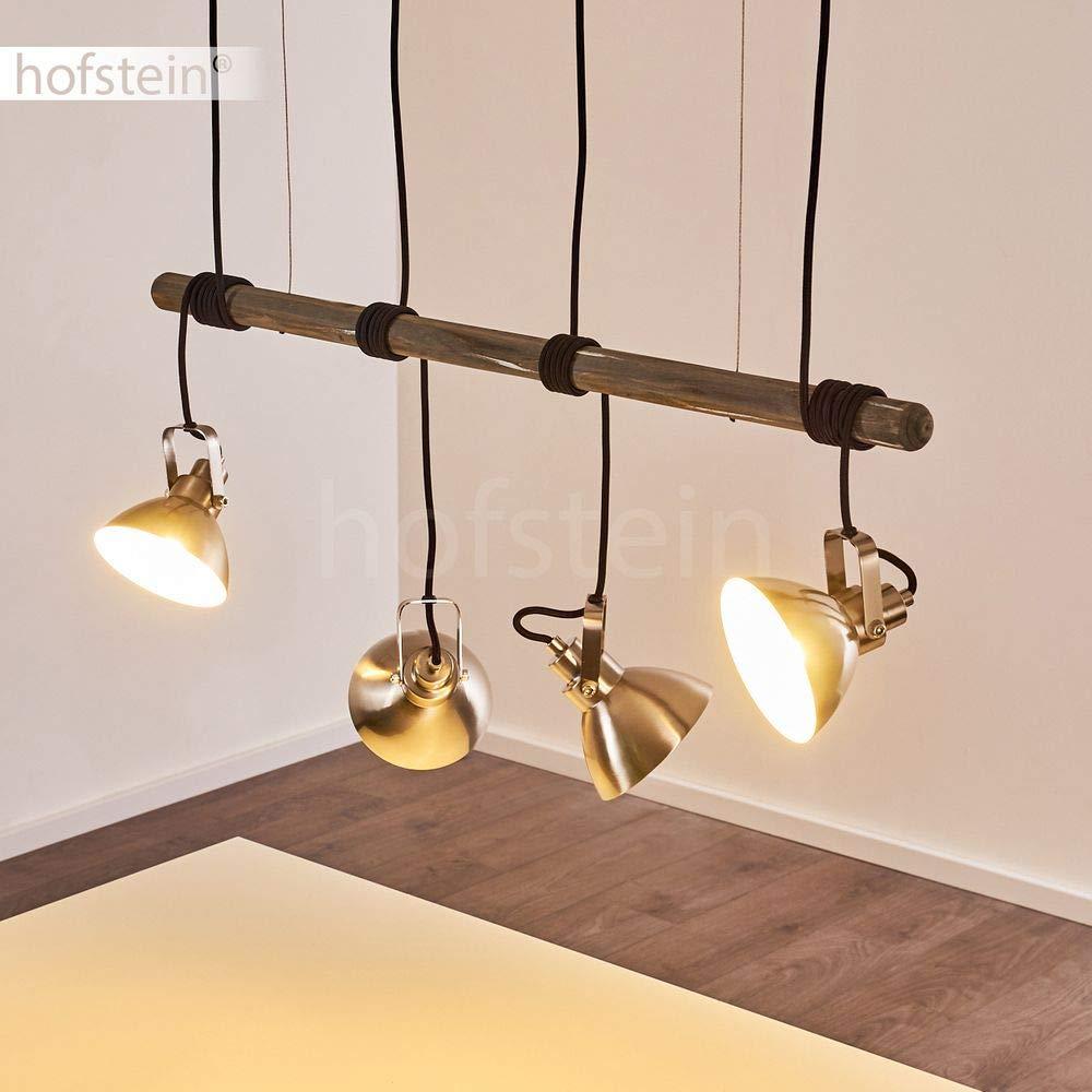 H/ängelampe aus Metall//Holz in Schwarz//Braun 5-flammig 60 Watt 5 x E27 max moderne H/ängeleuchte geeignet f/ür LED Leuchtmittel Pendelleuchte Seegaard