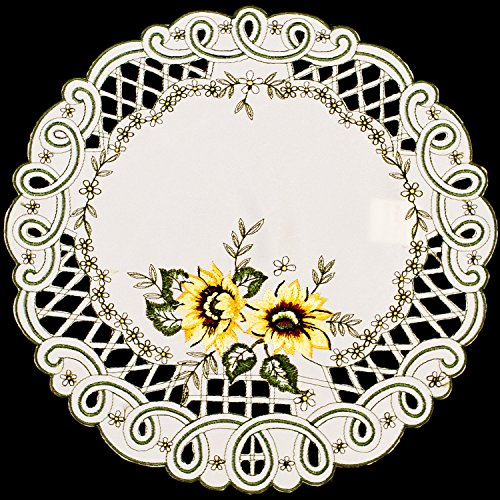 gs Embroidered Sunflower Doily/Place Mat 11