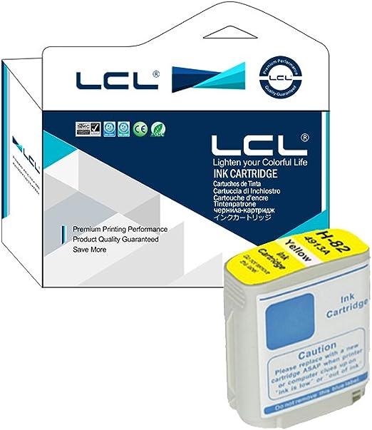 LCL 82 C4913A (1-Pack Amarillo) Cartucho de Tinta Compatible para HP DesignJet Printers: 510: Amazon.es: Electrónica