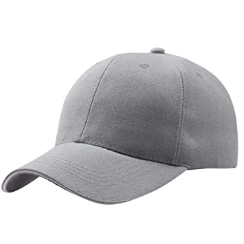 Amlaiworld_Gorras Gorra Beisbol béisbol del algodón de Hombre Mujer de Primavera Verano Gorras Snapback Sombreros de Hip Hop Sombreros de Pareja (Gris): ...