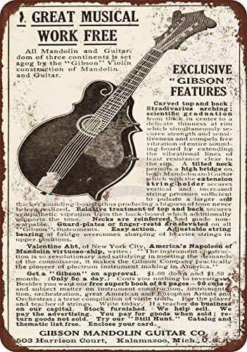 qidushop 1911 Gibson Guitarras y mandolinas Reproducción Metal ...