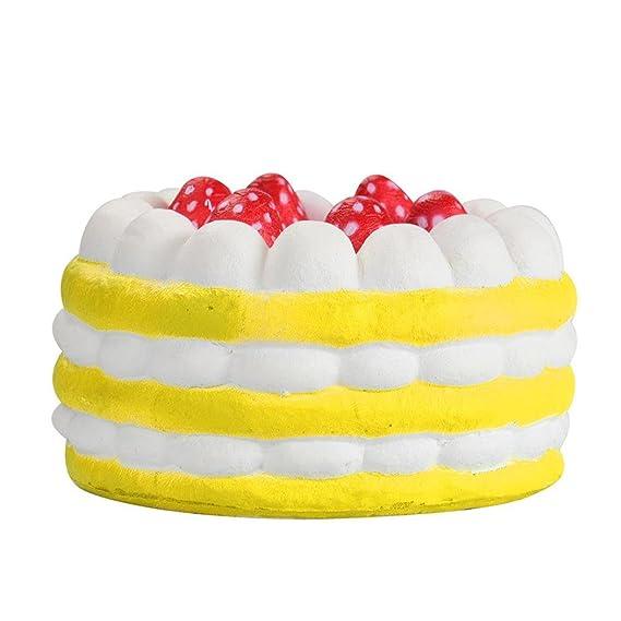 Juguetes de compresión,Beikoard Tres Mini Pastel de Fresas Alivio de la tensión Blanda Lento Levantamiento Crema perfumada descompresión Juguete Squeeze ...