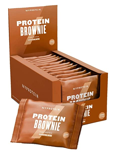Myprotein Brownie de proteínas, chispas de chocolate, proteínas 23 g, (12 unidades