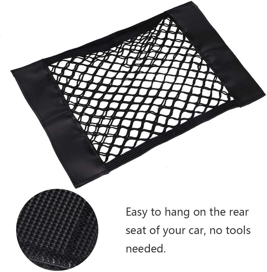 2Pcs Universal Car Cargo Net,Car Storage Wall Sticker Pouch Bag Interior Seat Storage Bag Holder Pocket for Car and House Organize