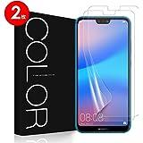 Huawei P20 Lite フィルム 全面保護 G-Color 気泡ゼロ ケースと干渉せず 貼り直しが可能 手触り抜群 透明ケース付き Huawei P20 Lite 対応 (保護フィルム2枚)