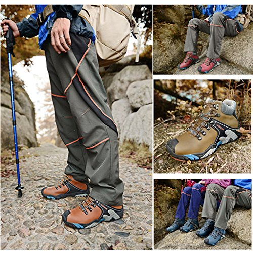 ZanYeing Herren Warm Halten Wanderschuhe Rutschfeste Kletterschuhe Trekking Wanderschuhe Sports Outdoor Wasserdicht Dämpfung Outdoor Schuhe Winter Gelb