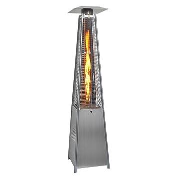 Giantex 42,000BTU Outdoor Pyramid Propane Glass Tube Dancing Flames Patio  Heater