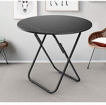 Mesas De Picnic Bistro Mesa Redonda Plegable Tabla 70 × 70 × 70cm portátil Café Negro Tabla Ideal for Usar como una terraza/jardín/Restaurante/Camping: Amazon.es: Hogar