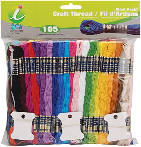Floss Jumbo Pack - Iris Craft Thread Giant Pack, Multicolor, 105-Pack