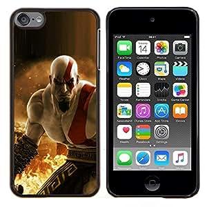 "Be-Star Único Patrón Plástico Duro Fundas Cover Cubre Hard Case Cover Para iPod Touch 6 ( Krat0S - G0D Of War"" )"