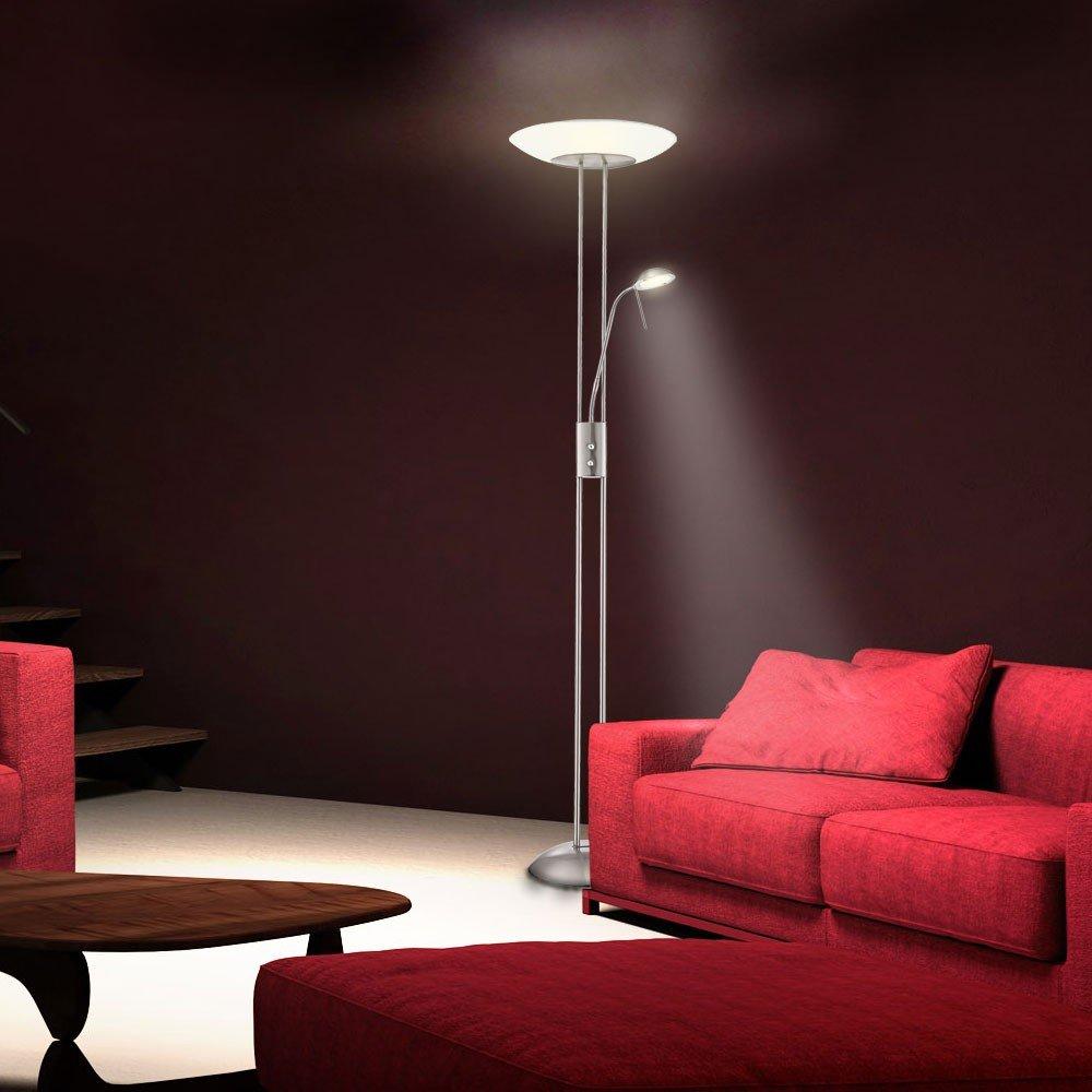 LED Deckenfluter Standleuchte Wohnzimmer Leselampe Stehleuchte - Standleuchten wohnzimmer