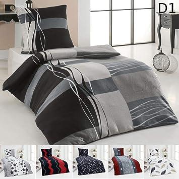 Dreamhome24 Warme Winter Microfaser Thermo Fleece Bettwäsche 135x200