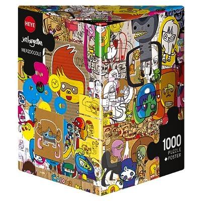 Heye Triangular Merzdoodle Burgerman Puzzles (1000-Piece): Toys & Games