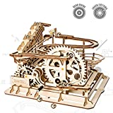 ROKR Mechanical 3D Wooden Puzzle Model Kit Adult Craft Set Educational Toy Building Engineering Set Christmas/New Year/Birthday/Thanksgiving Day Gift for Adults Boys Kids Age 14+(Waterwheel Coaster)