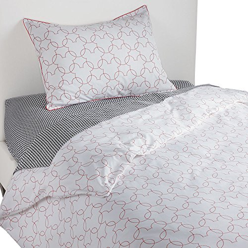 (Ethan Allen | Disney Mickey Mouse Dash Duvet Cover, Mickey's Shorts Red,)