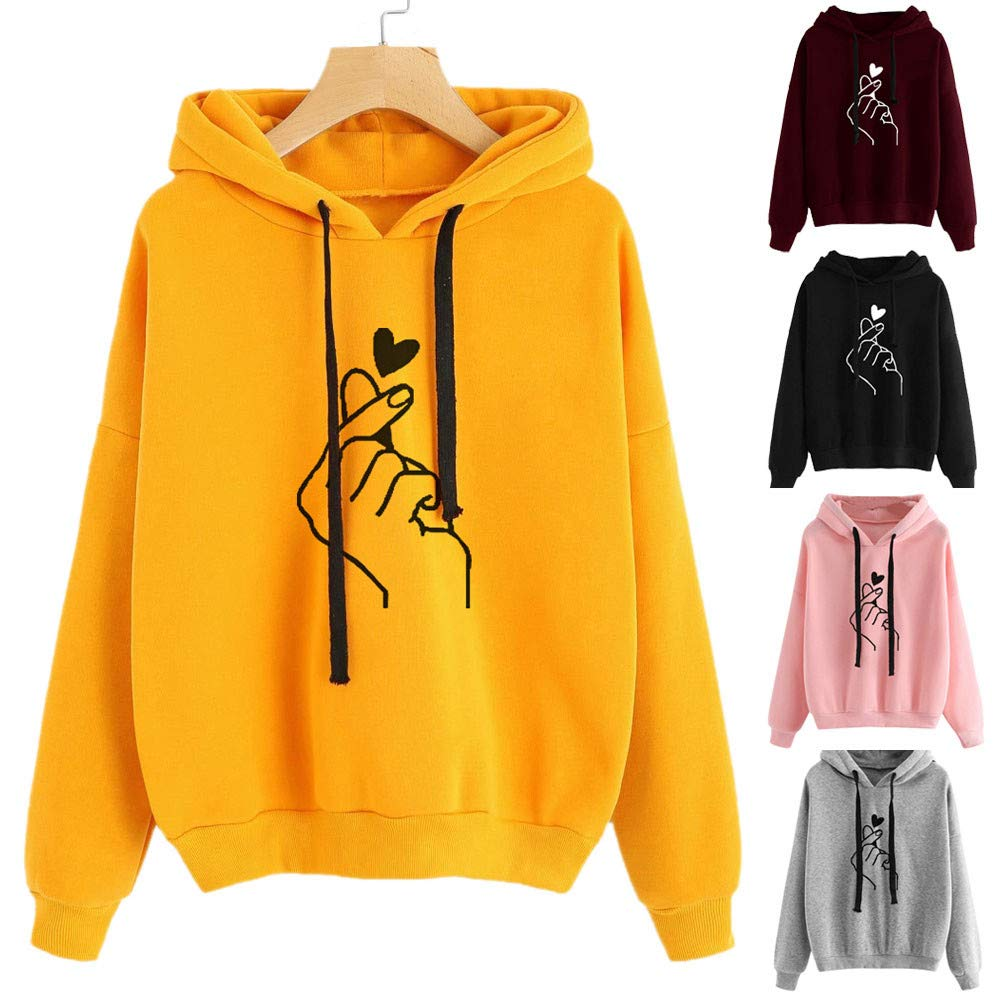 BB67 Womens Sweatshirt/Long Sleeve Hoodie Jumper Hooded Pullover Tops Blouse at Amazon Womens Clothing store:
