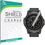 Nixon the Mission Screen Protector [6-PACK] Full Coverage [Military-Grade] RinoGear Premium HD Invisible Clear Shield w/ Lifetime Replacements