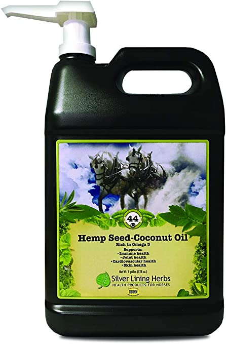 Silver Lining Herbs Hemp Seed Oil-Coconut Oil - All Natural Herbal Horse Oil - Source of Omega 3 Fatty Acids - Horse Health Support of the Immune System, Joints, and Cardiovascular System - 1 Gallon