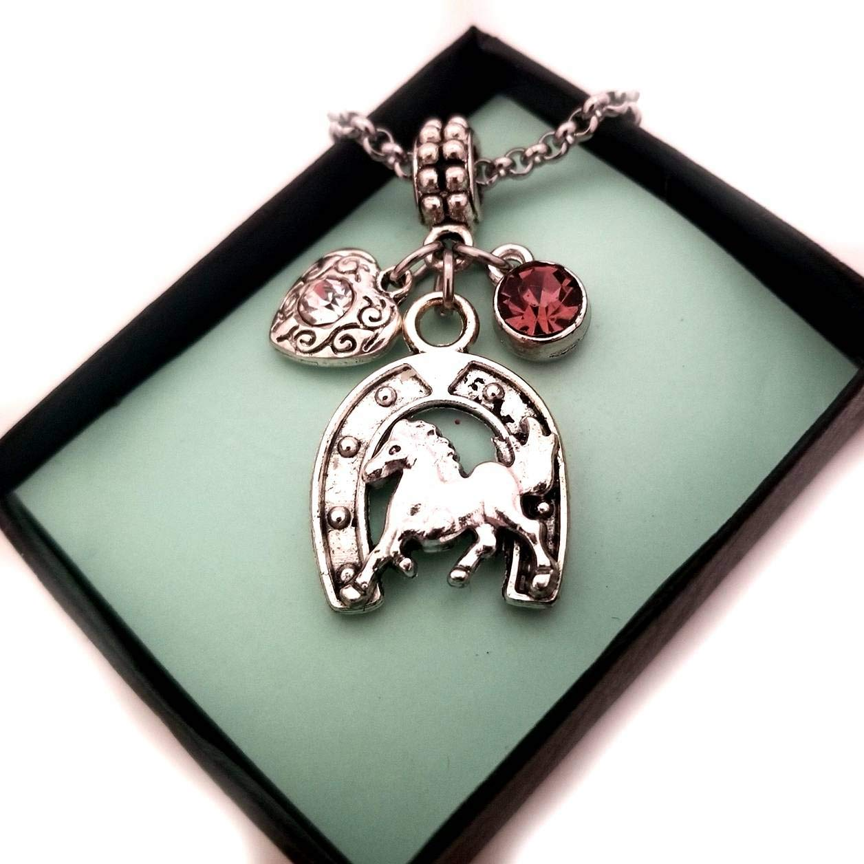 girl gift lucky charm Horseshoe bracelet good luck gift lucky horseshoe silver bracelet for women equestrian gifts personalised gift