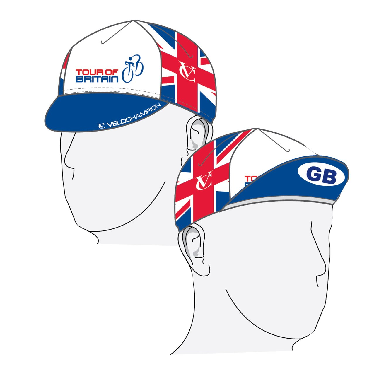 41211c530ed VeloChampion Tour of Britain Cycling Euro Cap - Cotton Cycling Hat   Amazon.co.uk  Sports   Outdoors
