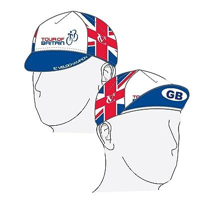 VeloChampion – Tour De Gran Bretaña Ciclismo Euro – Gorra de Ciclismo (algodón),
