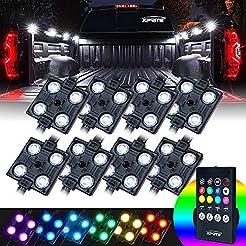 Xprite RGB LED Truck Bed Lights Kit w/Wi...