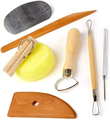 Clay Sculpting Kit Wax Carving Pottery Tool Wooden Handle Modeling Ceramic SL